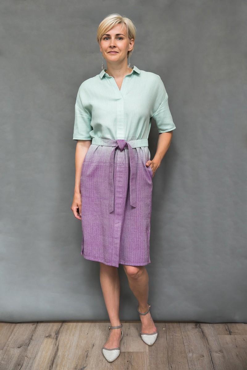 Платье-рубашка с градиентом цвета Катарина