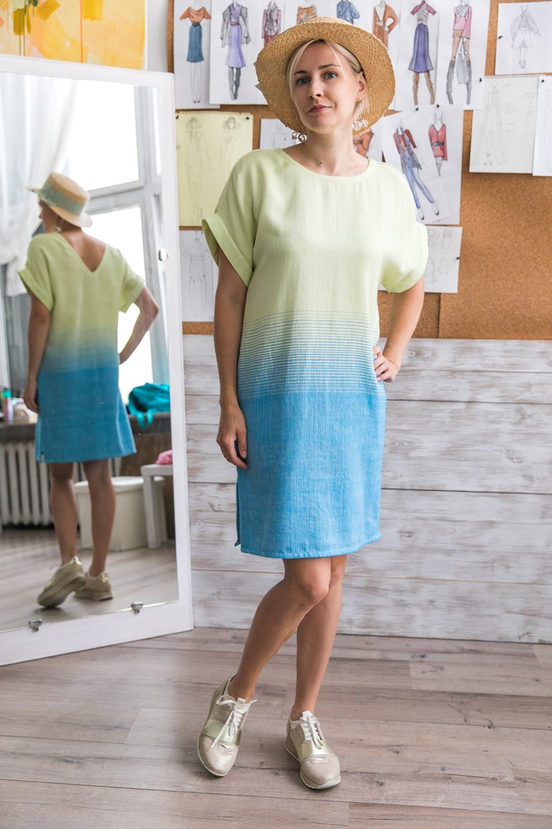 Платье-градация Эдем в разных цветовых вариантах