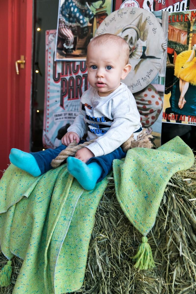Твидовый детский плед из кашемира и мериноса. Травяной.
