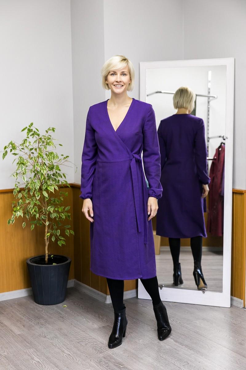 Платье. Фиолетовый.